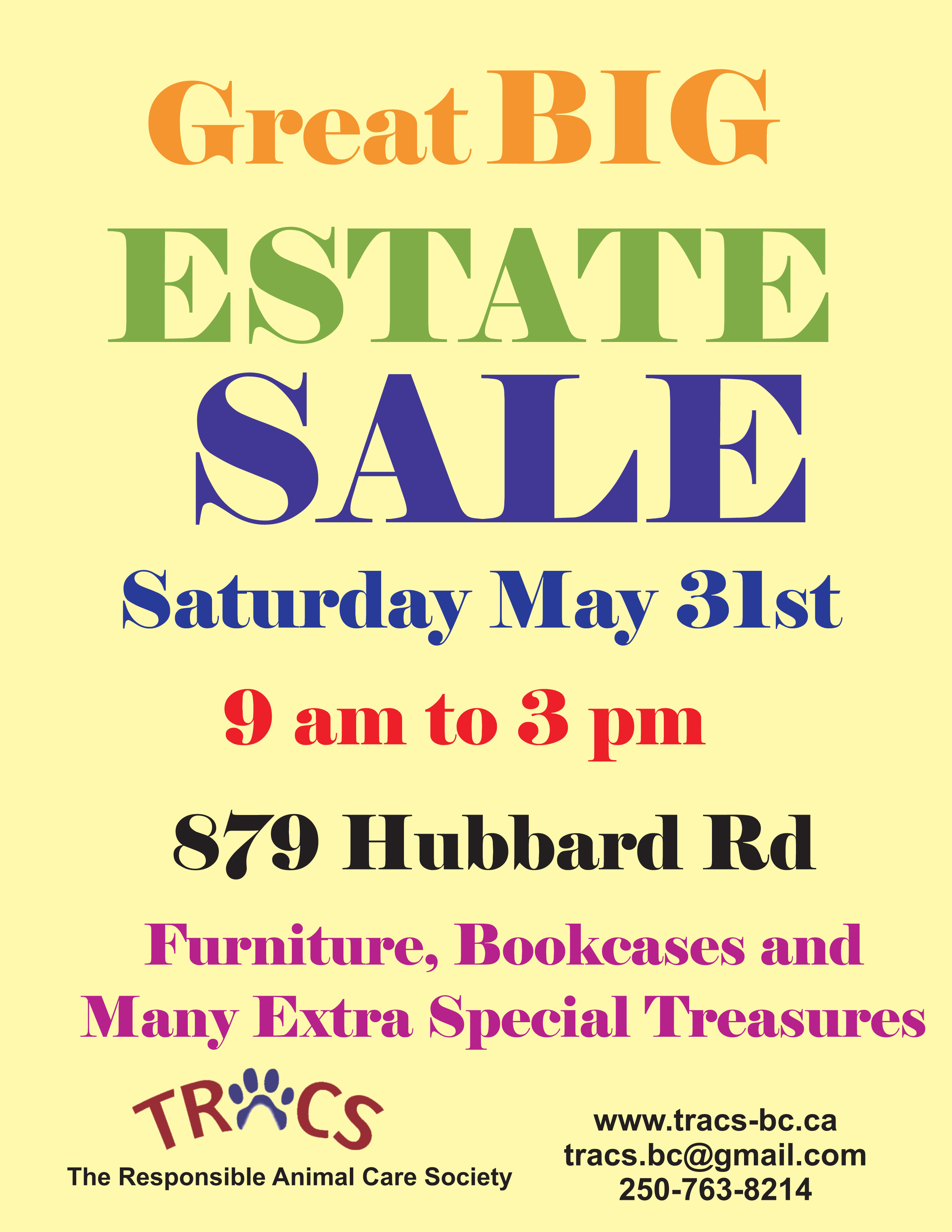 Great Big Estate Sale This Weekend Tracs The